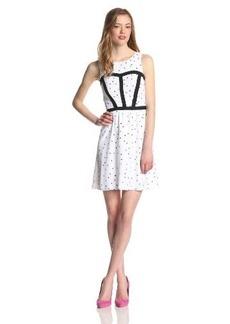 Kensie Women's Square Dots Dress