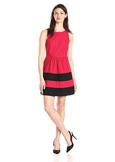Kensie Women's Stacked Daisy Eyelet Dress