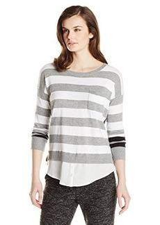 Kensie Women's Striped Two-Fer Sweater