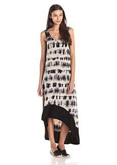 Kensie Women's Sleeveless Tie Dye Grid Dress