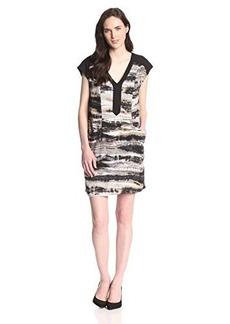 Kensie Women's Vertebrae Stripes Dress