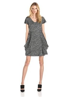 Kensie Women's Watercolor Cheetah Dress