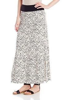 Kensie Women's Watercolor Cheetah Skirt