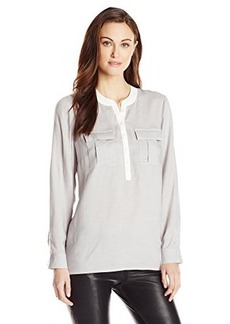 Kensie Women's Yarn Dyed Rayon Pullover Shirt