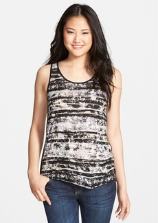 kensie 'Worn Stripes' Tank with Back Overlay