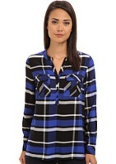 kensie Yarn Dyed Plaid Shirt