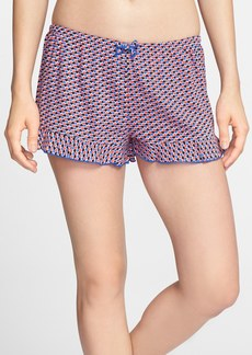 kensie 'Young & Free' Print Ruffle Trim Boxer Shorts