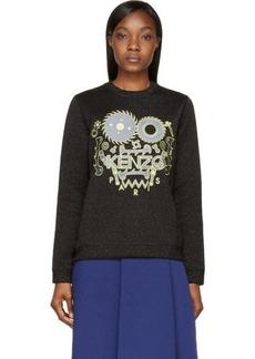 Black Kenzo Logo Lurex Sweatshirt