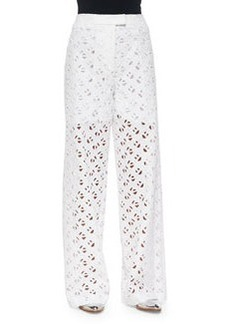 Flying Kenzo Wide-Leg Eyelet Pants   Flying Kenzo Wide-Leg Eyelet Pants