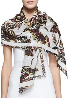 Flying Tigers Printed Scarf   Flying Tigers Printed Scarf