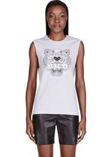 Heathered Grey Kenzo Tiger Head Tank Top