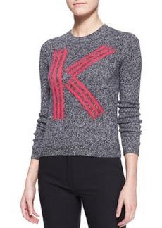 K Kenzo Intarsia Knit Top   K Kenzo Intarsia Knit Top