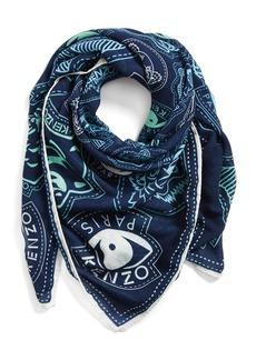 Kenzo 'Badges' Wool Scarf