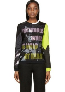 Kenzo Black & Chartreuse Wild At Heart Weird On Top Sweatshirt
