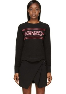 Kenzo Black & Pink Neon Sign Sweater