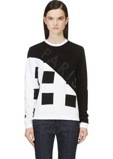 Kenzo Black & White Corduroy Square-Print Sweatshirt