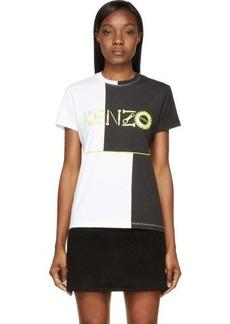 Kenzo Black & White Monster Logo T-Shirt