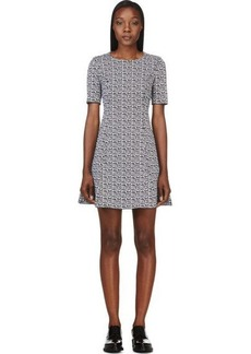 Kenzo Black & White Stretch Knit Dress