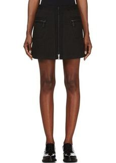Kenzo Black Waffle Weave Mini Skirt