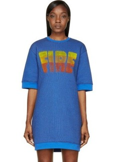 Kenzo Blue 'Fire' Sweatshirt Dress