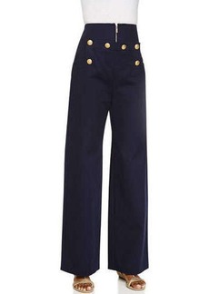 Kenzo Button-Front Cotton Trousers