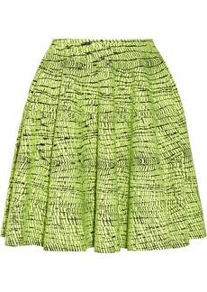 KENZO Crosshatch-intarsia cotton-blend skirt