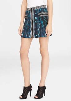 KENZO 'Distortion' Print Ottoman Knit A-Line Skirt