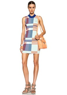 KENZO Geometric Viscose-Blend Intarsia Rib Dress