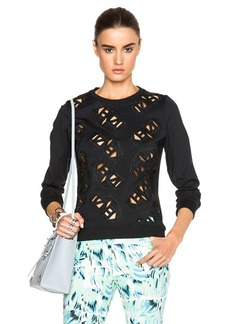 "KENZO <div class=""product_name"">Laser Cut Tech Neoprene Sweatshirt</div>"