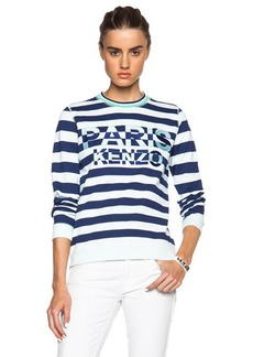 """KENZO <div class=""""product_name"""">Logo Striped Sweater</div>"""