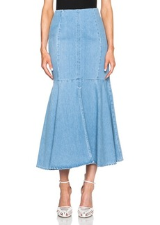 "KENZO <div class=""product_name"">Stone Washed Denim Flounce Skirt</div>"