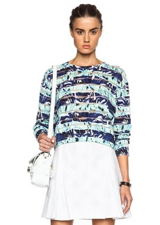 KENZO Striped Flower Pullover Sweater