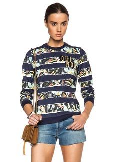 "KENZO <div class=""product_name"">Striped Flowers Oui Non Sweatshirt</div>"