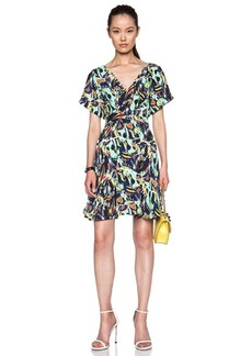KENZO Torn Flowers Poly Dress