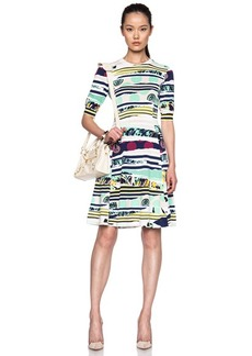 KENZO Torn Print Cotton-Blend Knit Dress