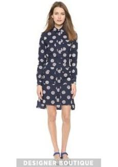 KENZO Dots & Logo Stripes Shirt Dress