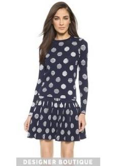 KENZO Dots & Stripes Jacquard Top