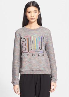 KENZO Embroidered Cotton & Wool Sweatshirt