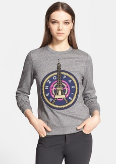 KENZO Embroidered Eiffel Tower Cotton Sweatshirt