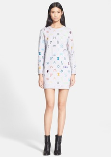 KENZO Embroidered Symbols Sweatshirt Dress