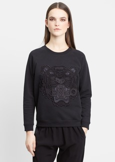 KENZO Embroidered Tiger Brushed Cotton Sweatshirt