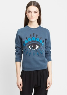 KENZO 'Eye' Embroidered Cotton Sweatshirt