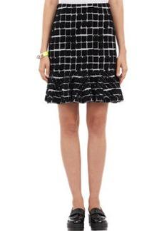 Kenzo Flocked Double-Knit Sweater Skirt