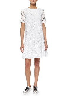 Kenzo Flying Kenzo Eyelet Flounce Dress  Flying Kenzo Eyelet Flounce Dress