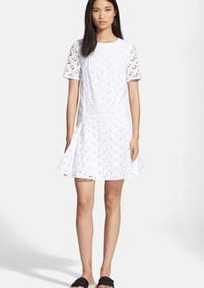 KENZO 'Flying KENZO' Logo Embroidered Cotton Dress