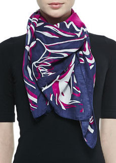 Kenzo Four Tigers Printed Scarf