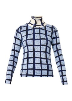 Kenzo Grid-print roll-neck sweater