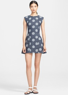KENZO Jacquard Denim Fit & Flare Dress