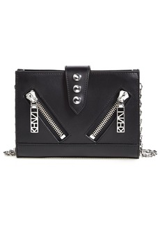KENZO 'Kalifornia' Waterproof Leather Wallet on a Chain