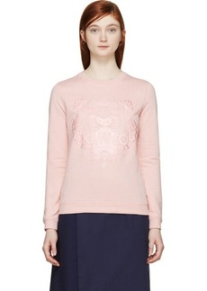 Kenzo Light Pink Embroidered Tiger Sweatshirt